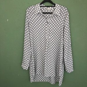 Pleione (Anthropologie) Tunic Blouse Size X-Large